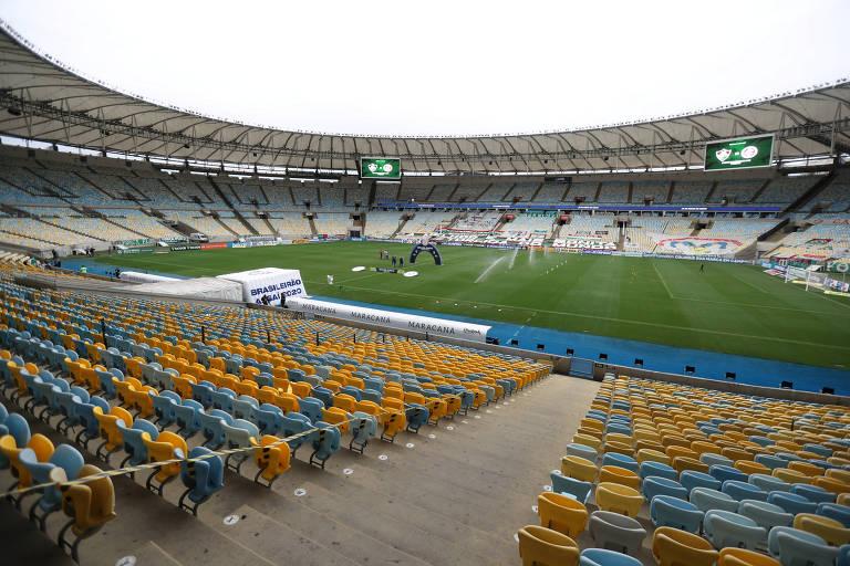Estádio do Maracanã sem público