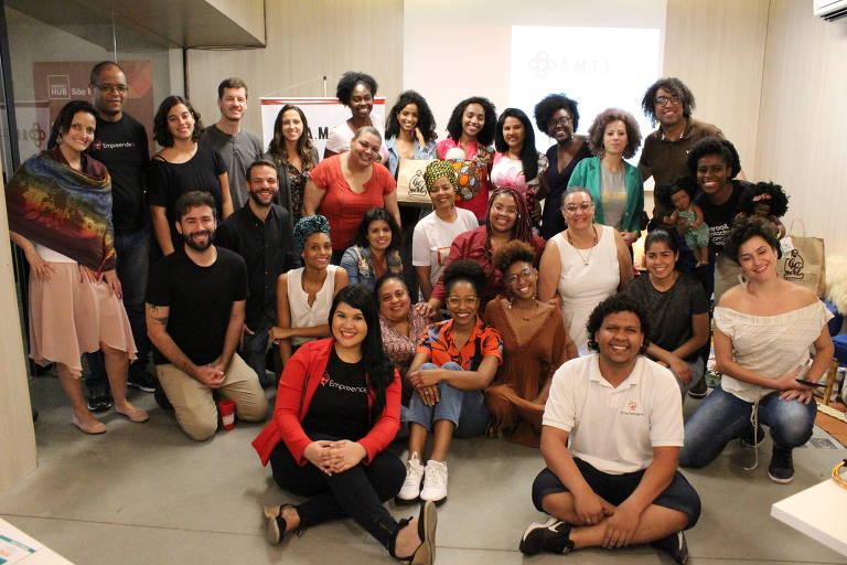 Participantes da edição de 2019 do programa A.M.E.I. (Aceleração de Mulheres Empreendedoras de Impacto)