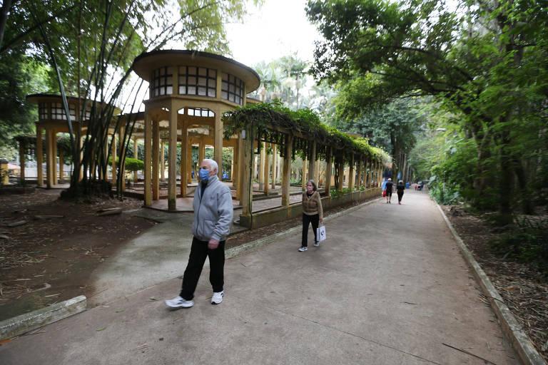 O governador João Doria (PSDB) quer privatizar parques como o da Água Branca, na zona oeste da capital paulista