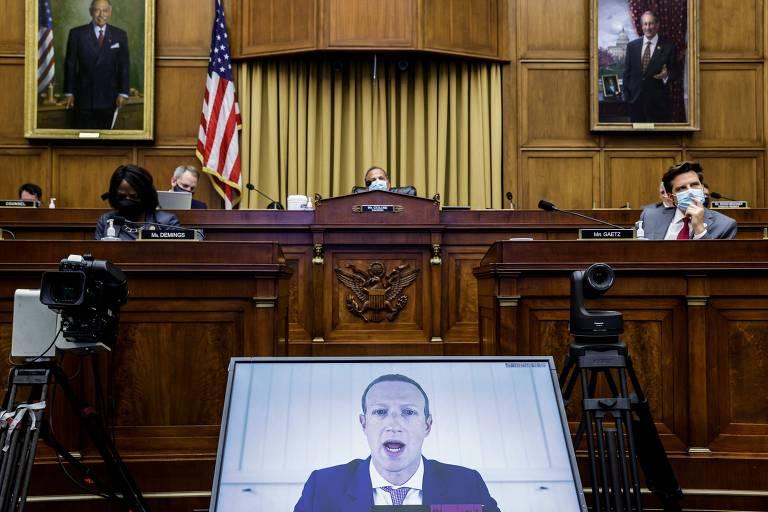 O presidente do Facebook, Mark Zuckerberg, interrogado por comitê de antitruste no fim de julho
