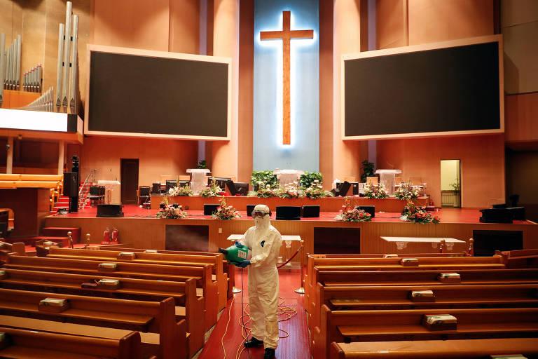 Coronavírus ressurge na Coreia do Sul, com novo surto centrado em igreja