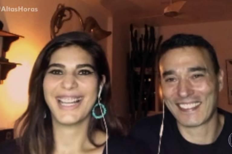 André Risek e Andréia Sadi
