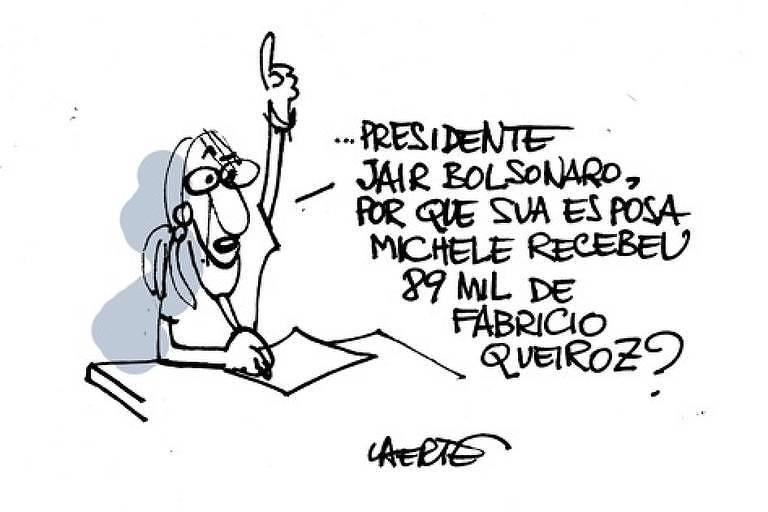 Charge Laerte frase Bolsonaro