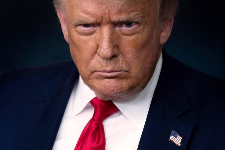 O presidente americano, Donald Trump, na Casa Branca, em Washington