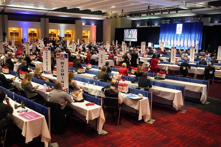 1º dia da convenção republicana de 2020