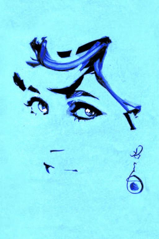 A princesa  Diana em  ilustração  do musical