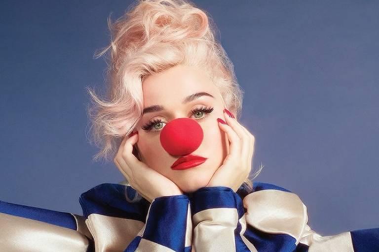 Katy Perry em seu novo álbum 'Smile', o sexto de sua carreira