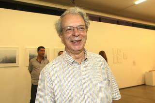 Frei Betto na abertura da exposição