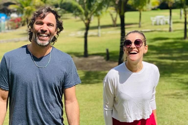 Marcelo Faria e Ingrid Guimarães, que são primos
