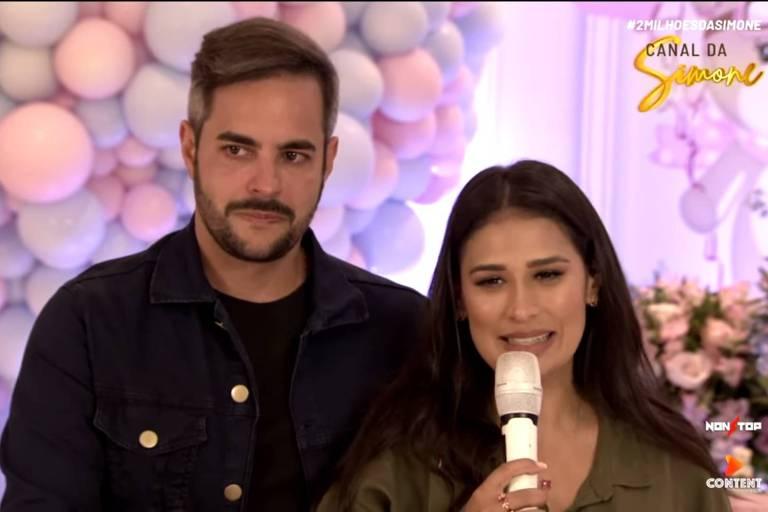 Cantora Simone e o marido, o empresário Kaká Diniz