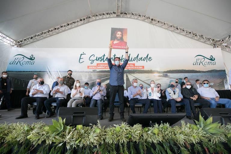 Bolsonaro em inauguração de usina fotovoltaica em Caldas Novas (GO)