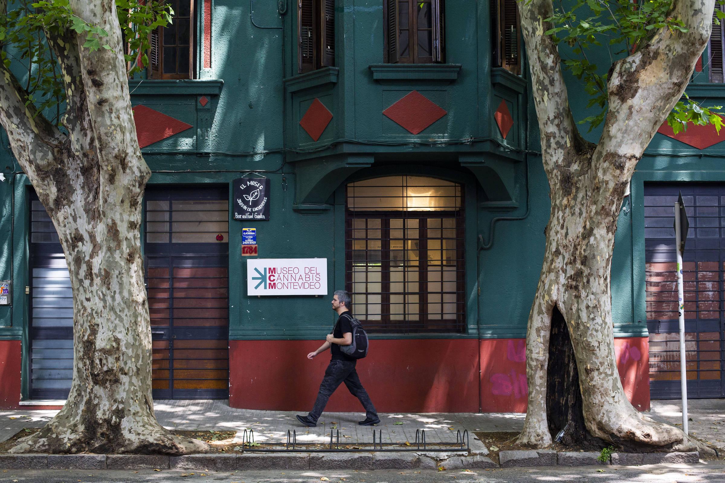 Fachada do Museu da Cânabis, em Montevidéu