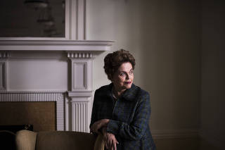 Dilma Rousseff, the former president of Brazil, in Cambridge, Mass.