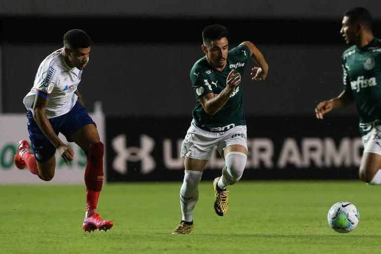 Palmeiras e Bahia ficaram no empate em Salvador