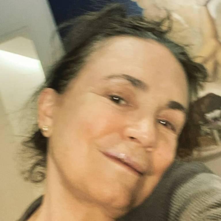Regina Duarte em foto publicada em rede social