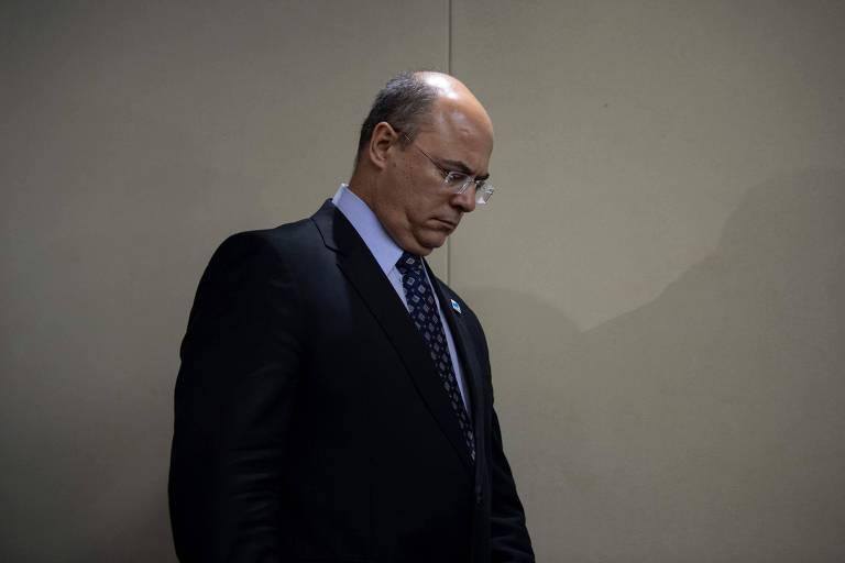 O governador afastado do Rio, Wilson Witzel
