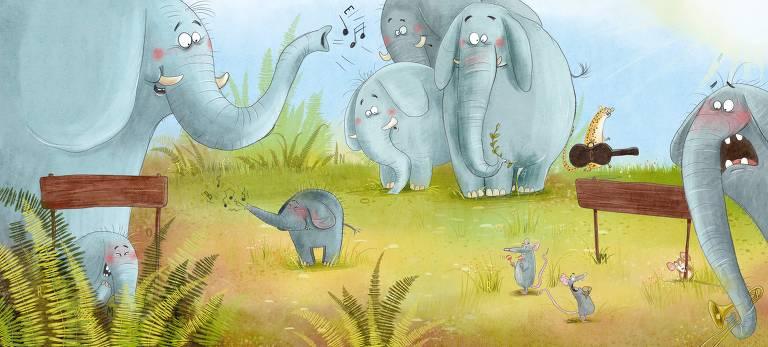 Veja ilustrações do livro 'Sinfonia dos Animais'