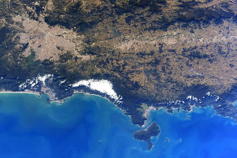 Imagem do Estado de São Paulo postada pelo astronauta Chris Cassidy