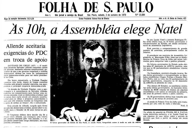 1970: Allende assegura que vai respeitar o sistema democrático do Chile