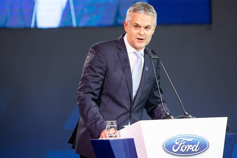 Lyle Watters, presidente da Ford da América do Sul, durante evento comemorativo aos 50 anos da empresa em Taubaté, no interior paulista