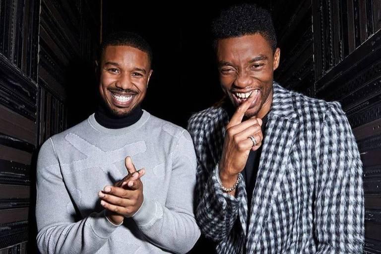 Michael B. Jordan quebra silêncio sobre morte de Chadwick Boseman: 'Meu irmão mais velho'