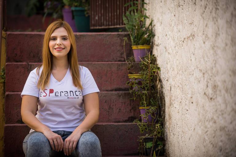 A pré-candidata a vereadora em SP Malu Molina, que é filiada ao Cidadania e passou pelo PDT