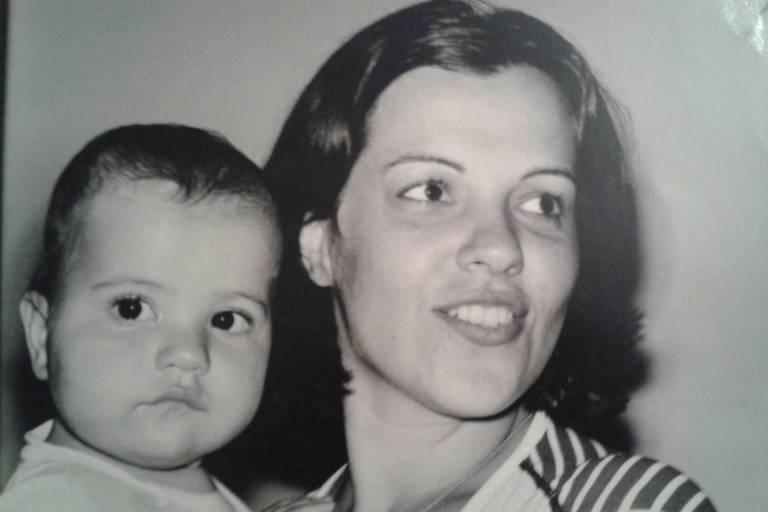 Virgínia Cavalcanti e o filho, Diego; era uma de suas fotos preferidas