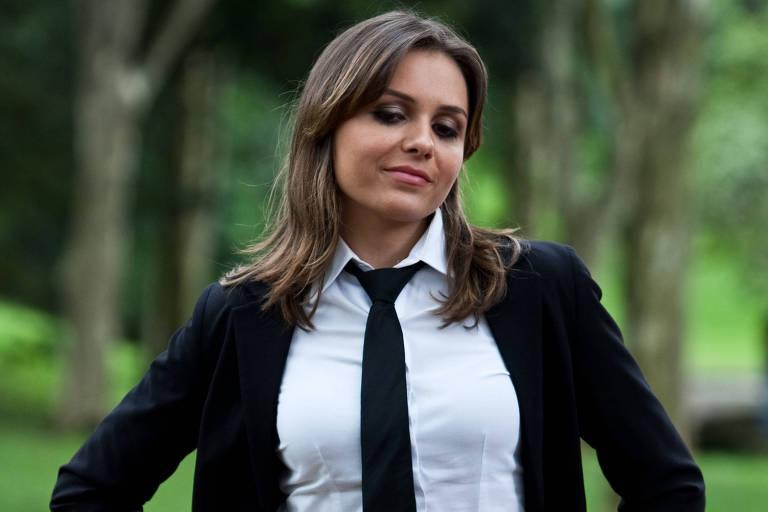 Monica Iozzi na época do programa CQC