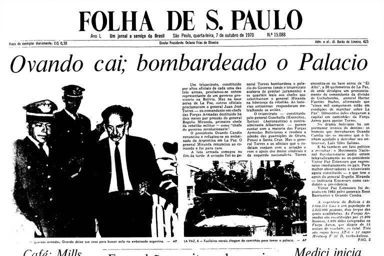 1970: Presidente renuncia, e Bolívia tem luta entre militares pelo poder