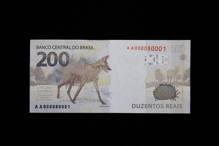 Confira imagens da nova nota de R$ 200
