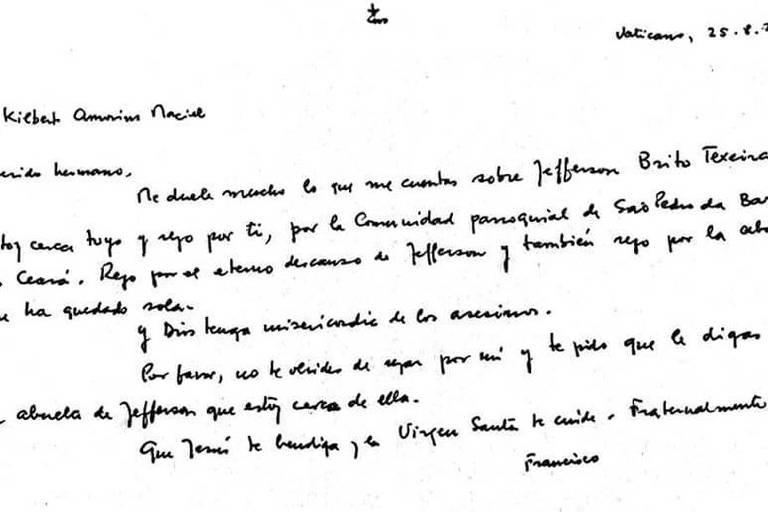 Reprodução de uma carta