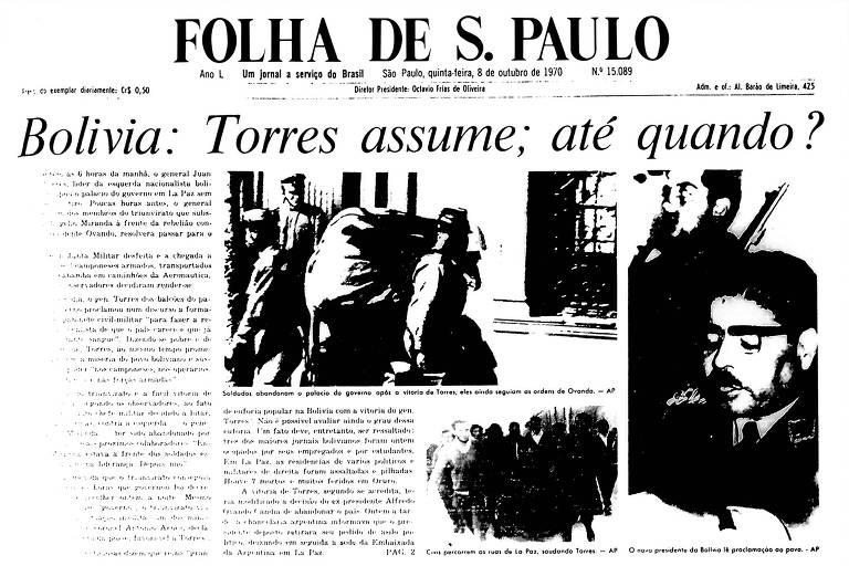 1970: Torres assume poder na Bolívia após renúncia de Ovando e indefinição