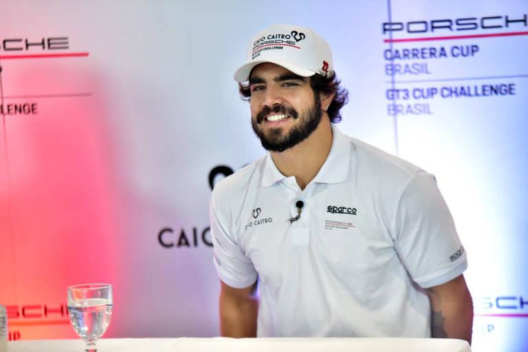 Caio Castro fica em 12º lugar em estreia como piloto profissional: 'Legal demais'