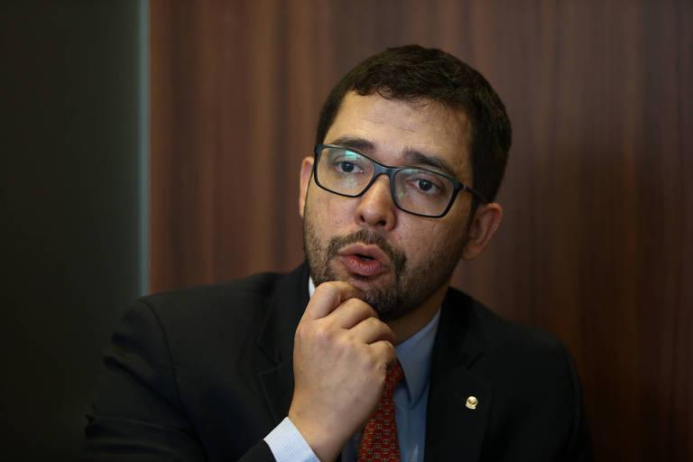 O procurador da república Anselmo Lopes durante entrevista à Folha