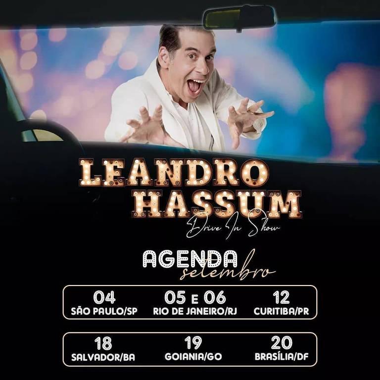 Agenda de shows do stand-up comedy do Leandro Hassum
