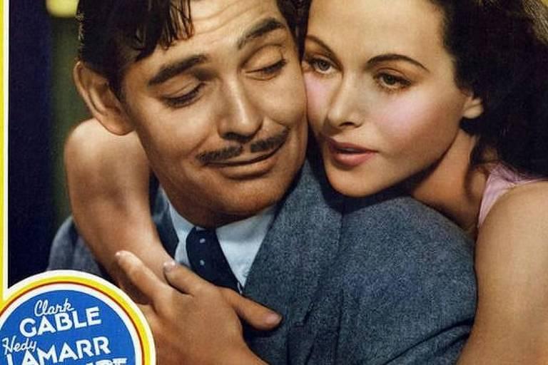 Lamarr com Clark Gable: ela conseguiu um lucrativo contrato com o estudio MGM