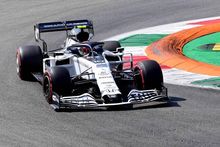 Gasly durante o GP de Monza, na Itália