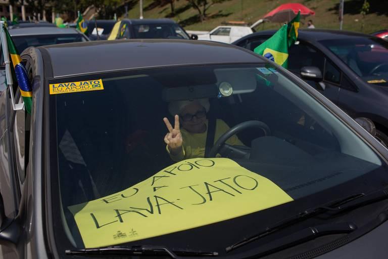 Carreata de apoio a Lava Jato em São Paulo