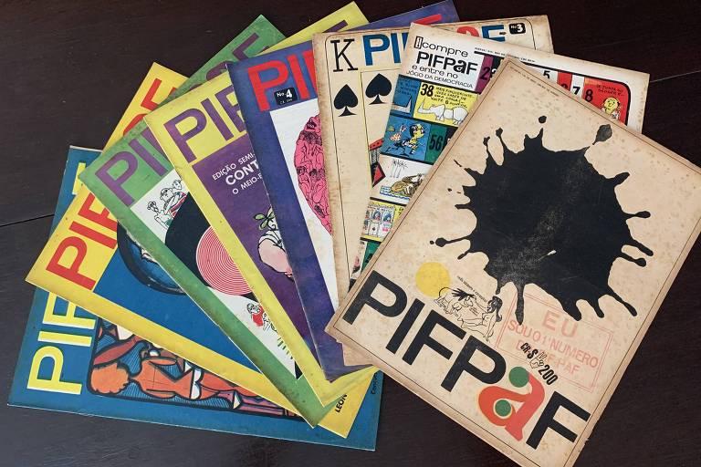 Coleção original da revista Pif-Paf, de Millôr Fernandes, de 1964. Heloisa Seixas