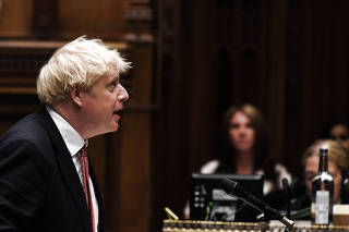 Britain's PM Johnson attends question period at House of Commons in London