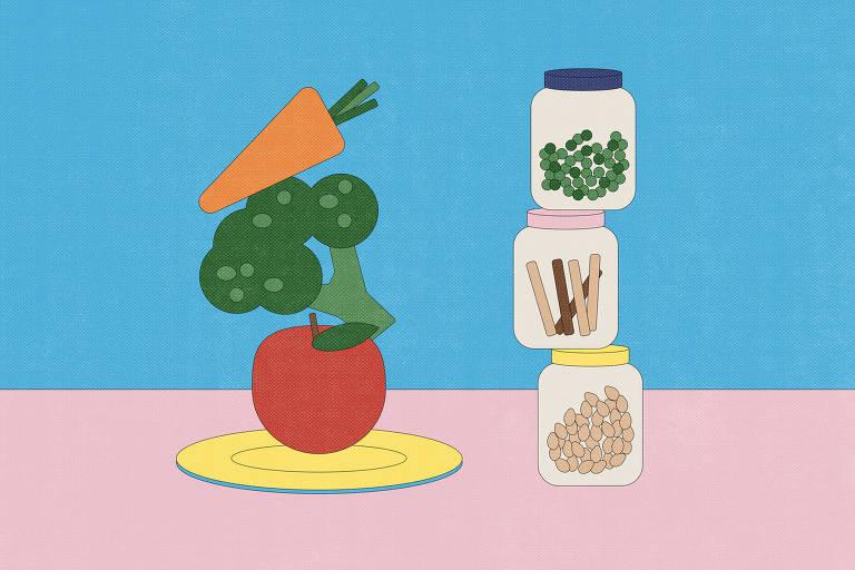 desenho de vegetais naturais e enlatados