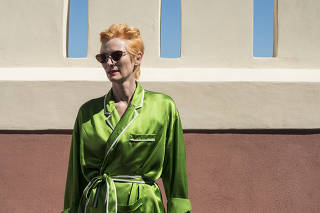 The actress Tilda Swinton in Venice, Italy, Sept. 3, 2020. (Susan Wright/The New York Times)