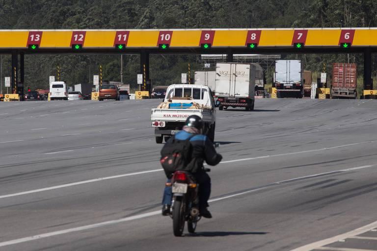 Pedágio na rodovia Bandeirantes, em São Paulo (SP)