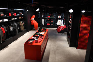 View of the new flagship Rolling Stones store in London