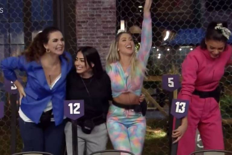 Jakelyne, Carol Narizinho, Mirella e Luiza Ambiel foram as vencedoras que disputam a primeira prova do fazendeiro da edição.