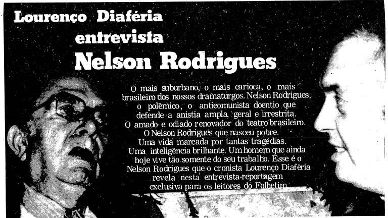 Reprodução da página do jornal com a chamada da entrevista, em que a aperece a foto dos dois homens conversando