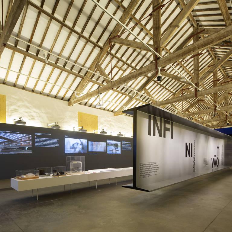 Exposição 'Infinito Vão', sobre arquitetura brasileira e aberta em 2018 na Casa da Arquitectura, em Portugal