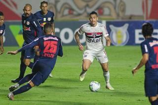 Partida entre Sao Paulo x RB Bragantino, valido pela 9ª rodada do Campeonato Brasileiro