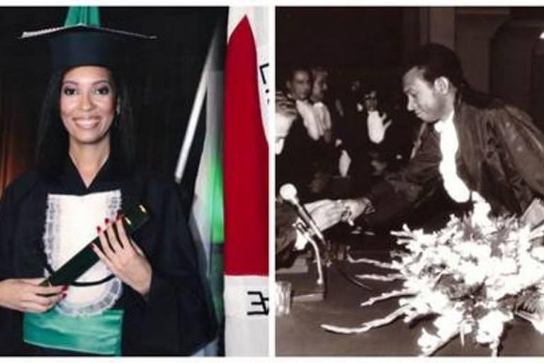 Juliana Estevão de Oliveira se formou em medicina em 2010; o pai, Juarez, se graduou no mesmo curso em 1978