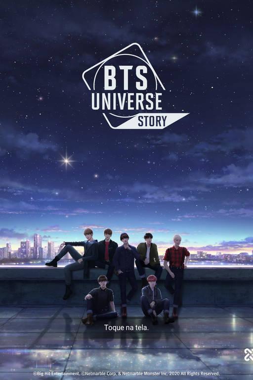 Imagens do jogo BTS Universe Story